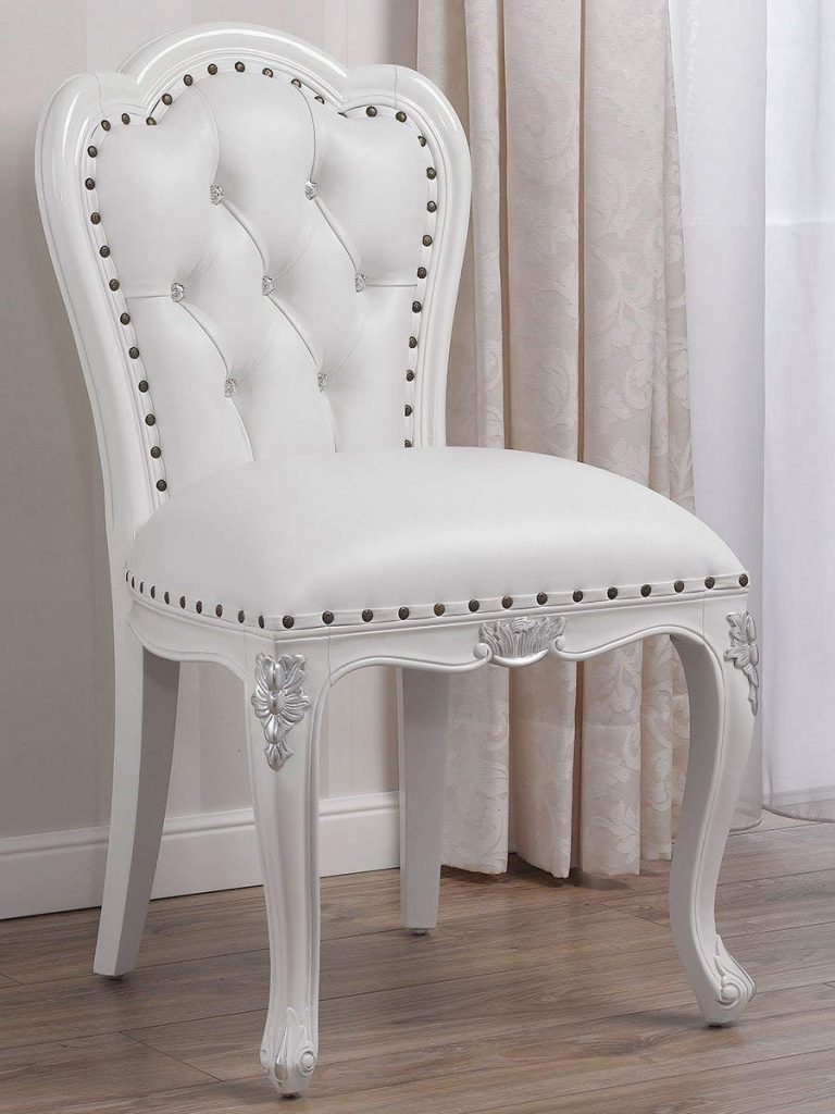Silla barroca blanca Swarovski