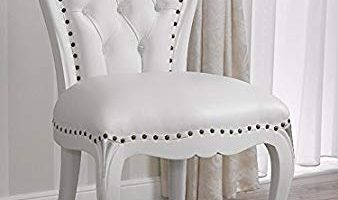 Silla barroca moderna blanca