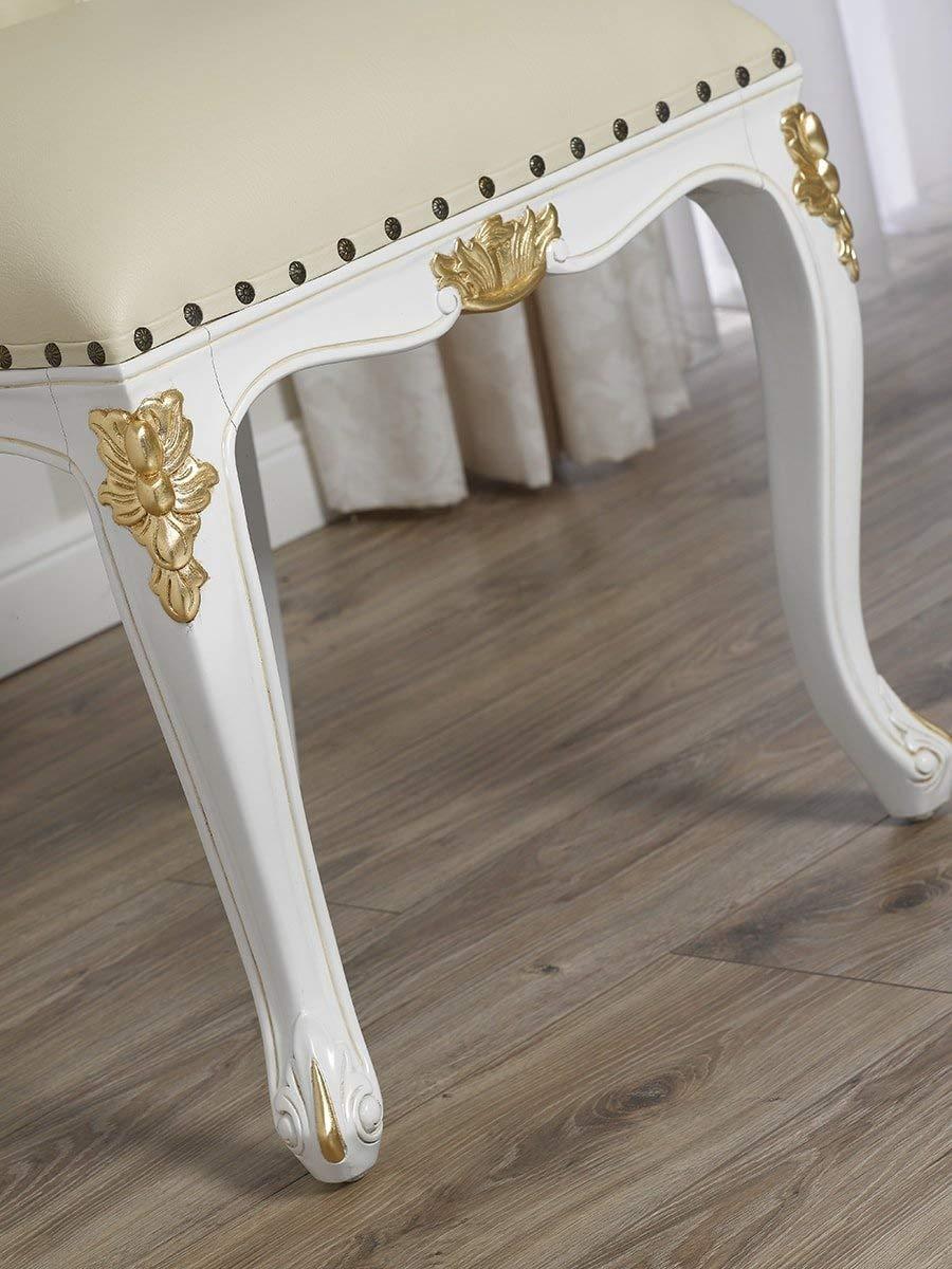 Silla barroca patas blancas